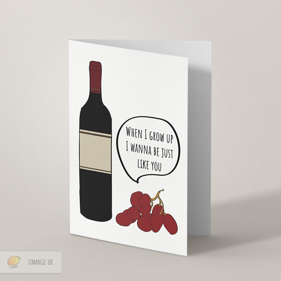 Wine Greetings Card