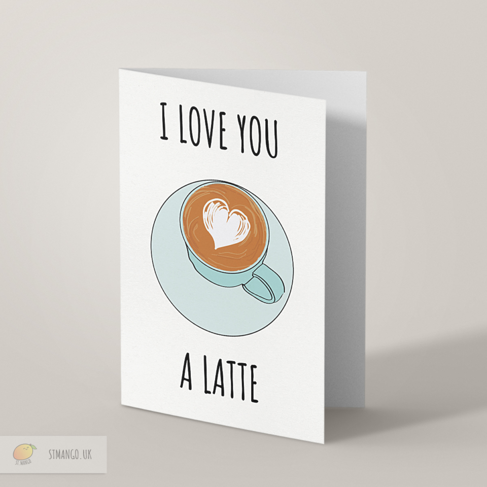Latte Greetings Card
