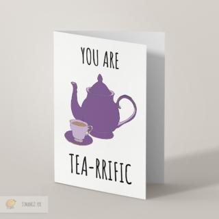 Tea Greetings Card