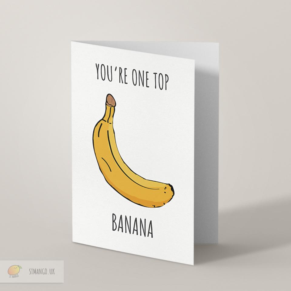 Top Banana Greetings Card
