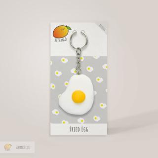 Fried Egg Keyring